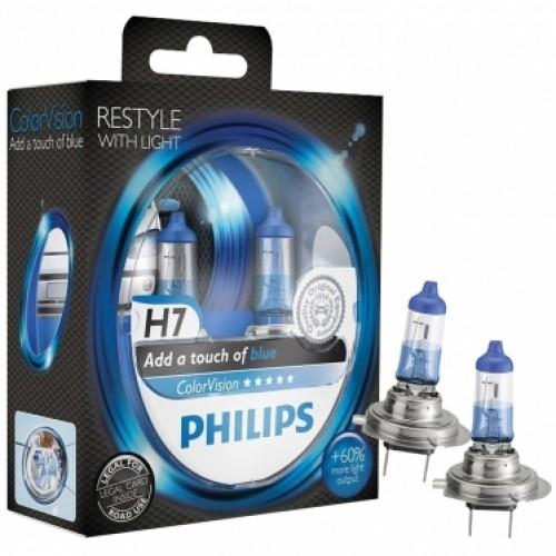 Philips verlichting : Philips ColorVision H7 blauw nieuw